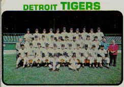 1973 Topps Baseball Cards      191     Detroit Tigers TC