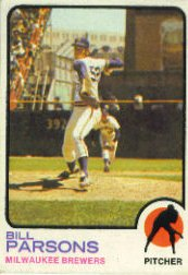 1973 Topps Baseball Cards      231     Bill Parsons