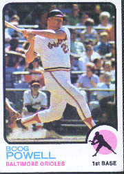 1973 Topps Baseball Cards      325     Boog Powell