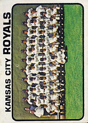 1973 Topps Baseball Cards      347     Kansas City Royals TC