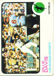 1973 Topps Baseball Cards      035      Willie Davis