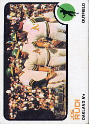 1973 Topps Baseball Cards      360     Joe Rudi UER