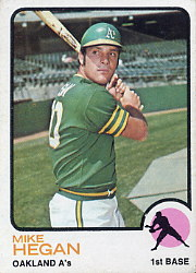 1973 Topps Baseball Cards      382     Mike Hegan