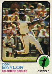 1973 Topps Baseball Cards      384     Don Baylor