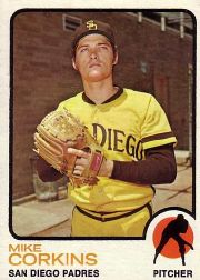 1973 Topps Baseball Cards      461     Mike Corkins