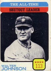 1973 Topps Baseball Cards      476     Walter Johnson LDR
