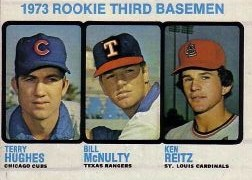 1973 Topps Baseball Cards      603     Terry Hughes/Bill McNulty/Ken Reitz RC