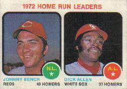 1973 Topps Baseball Cards      062      Johnny Bench/Dick Allen LL