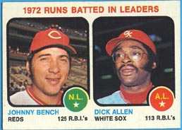 1973 Topps Baseball Cards      063      Johnny Bench/Dick Allen LL