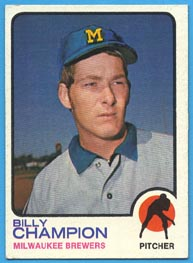 1973 Topps Baseball Cards      074      Billy Champion