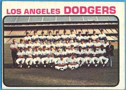 1973 Topps Baseball Cards      091      Los Angeles Dodgers TC