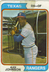 1974 Topps Baseball Cards      107     Alex Johnson