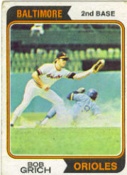 1974 Topps Baseball Cards      109     Bob Grich