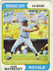 1974 Topps Baseball Cards      150     John Mayberry