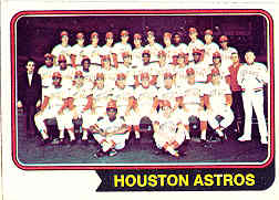 1974 Topps Baseball Cards      154     Houston Astros TC