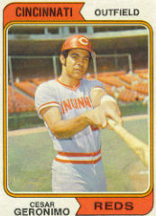 1974 Topps Baseball Cards      181     Cesar Geronimo