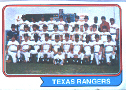 1974 Topps Baseball Cards      184     Texas Rangers TC