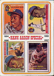 1974 Topps Baseball Cards      002       Hank Aaron Special 54-57