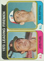 1974 Topps Baseball Cards      208     Jim Hiller/Mike Marshall LL