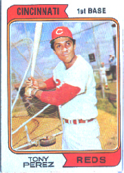 1974 Topps Baseball Cards      230     Tony Perez