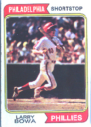 1974 Topps Baseball Cards      255     Larry Bowa