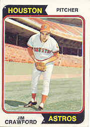 1974 Topps Baseball Cards      279     Jim Crawford RC