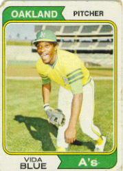 1974 Topps Baseball Cards      290     Vida Blue