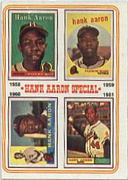 1974 Topps Baseball Cards      003       Hank Aaron Special 58-61