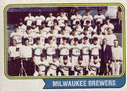 1974 Topps Baseball Cards      314     Milwaukee Brewers TC