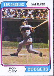 1974 Topps Baseball Cards      315     Ron Cey