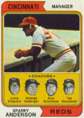 1974 Topps Baseball Cards      326     Sparky Anderson MG