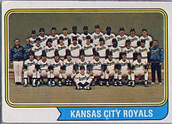 1974 Topps Baseball Cards      343     Kansas City Royals TC