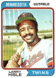 1974 Topps Baseball Cards      366     Larry Hisle