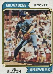 1974 Topps Baseball Cards      371     Jim Slaton