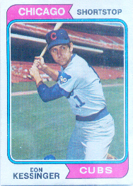 1974 Topps Baseball Cards      038      Don Kessinger