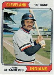 1974 Topps Baseball Cards      384     Chris Chambliss