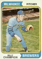 1974 Topps Baseball Cards      391     Billy Champion