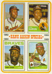1974 Topps Baseball Cards      004       Hank Aaron Special 62-65