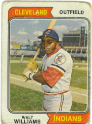 1974 Topps Baseball Cards      418     Walt Williams
