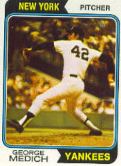 1974 Topps Baseball Cards      445     George Medich