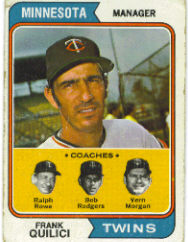 1974 Topps Baseball Cards      447     Frank Quilici MG
