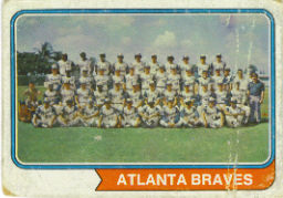 1974 Topps Baseball Cards      483     Atlanta Braves TC