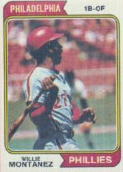 1974 Topps Baseball Cards      515     Willie Montanez