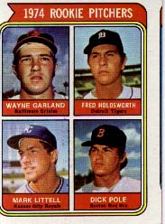 1974 Topps Baseball Cards      596     Wayne Garland/Fred Holdsworth/Mark Little/Dick Pole RC