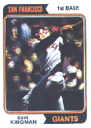 1974 Topps Baseball Cards      610     Dave Kingman