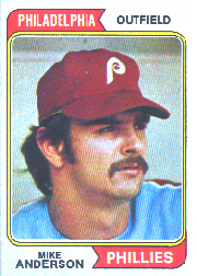 1974 Topps Baseball Cards      619     Mike Anderson