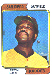 1974 Topps Baseball Cards      651     Leron Lee