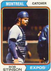 1974 Topps Baseball Cards      653     Bob Stinson