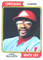 1974 Topps Baseball Cards      070      Dick Allen