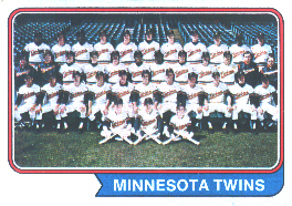 1974 Topps Baseball Cards      074      Minnesota Twins TC